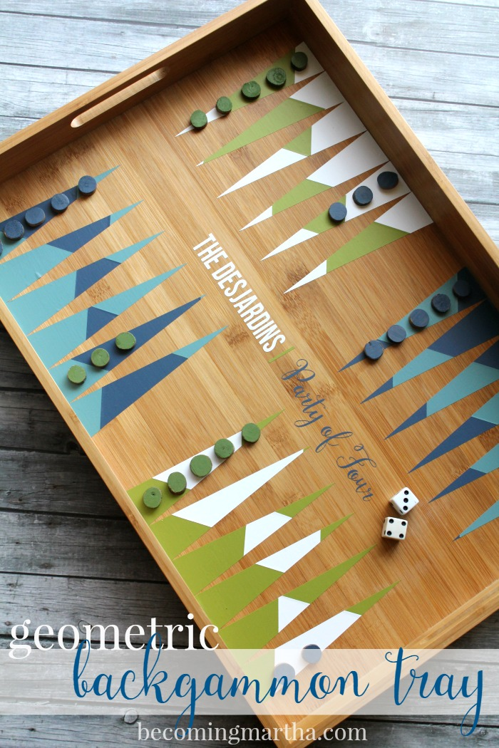 Geometric Backgammon Tray