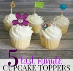 Easy Cupcake Toppers