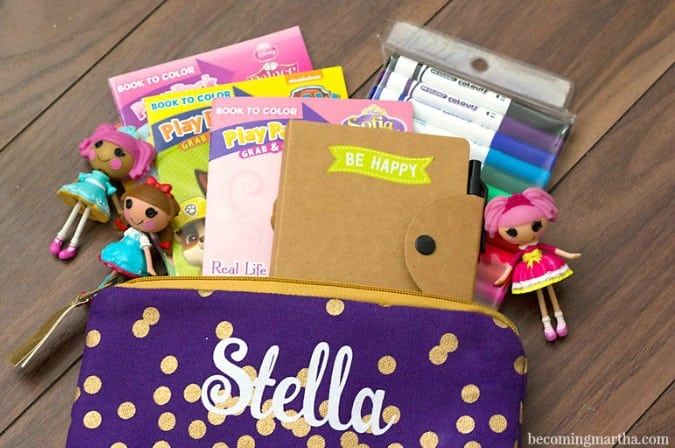 Personalized Kids Busy Bag filled w/Activities