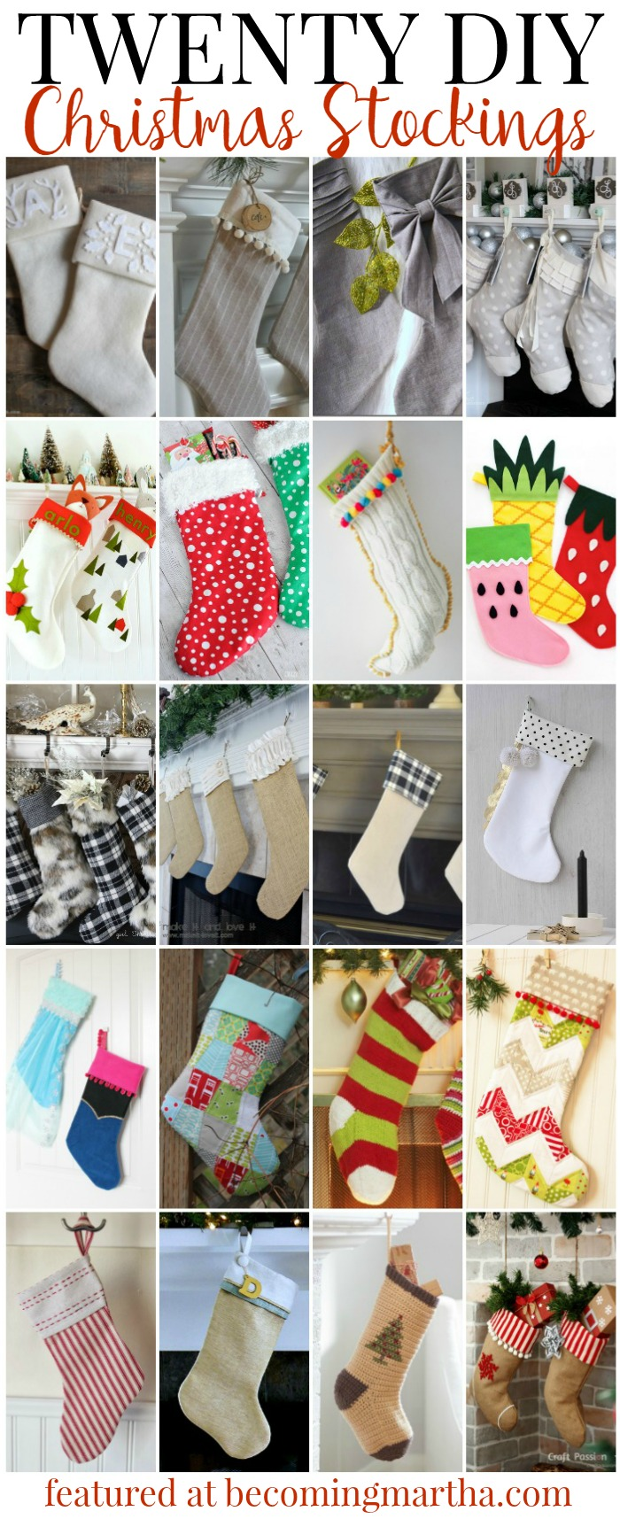 Looking for great Christmas stocking patterns that you can use to DIY your own this year? Here are 20 of the greatest ideas to get you started!