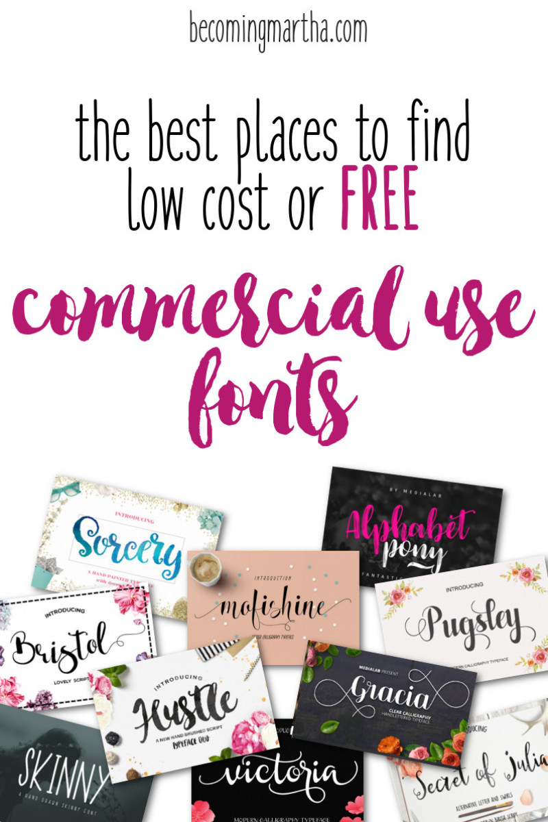 Free Commercial Use Fonts – Where to Find them for Free or Low Cost