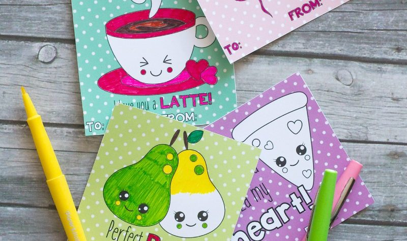 printable coloring valentines
