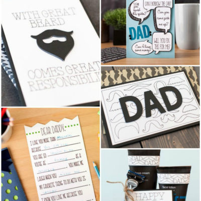 Last Minute Fathers Day Cards with Cricut