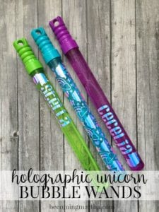 Holographic Vinyl Bubble Wands (Made With Cricut!)