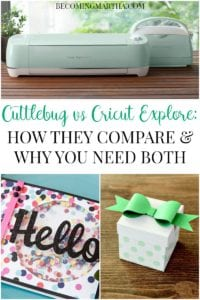 Cuttlebug vs Cricut Explore: How they Compare and Why You Need Both