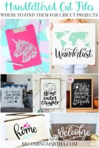Where to Find Handlettered Cut Files for Use in Cricut Design Space