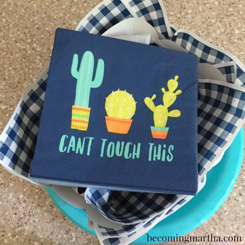 This paint party for tweens has a fun Tacos and Cactus theme, and the Social Artworking system makes it easy to hold your own paint party at home.