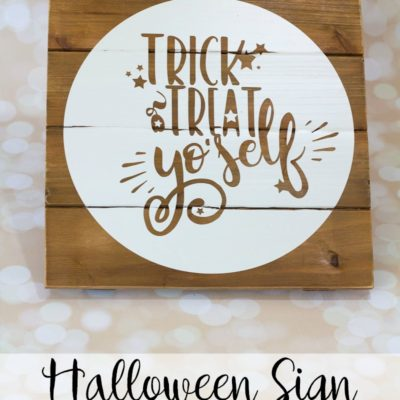 Use this Trick or Treat Yo'self file from our Halloween SVG bundle to create your own Halloween sign in under 15 minutes - perfect to hang on any door!