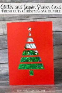 Christmas Card SVG – Glitter and Sequin Shaker Card and Gift Tag