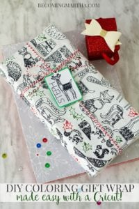 DIY Coloring Gift Wrap – Made Easy With Cricut Explore or Maker