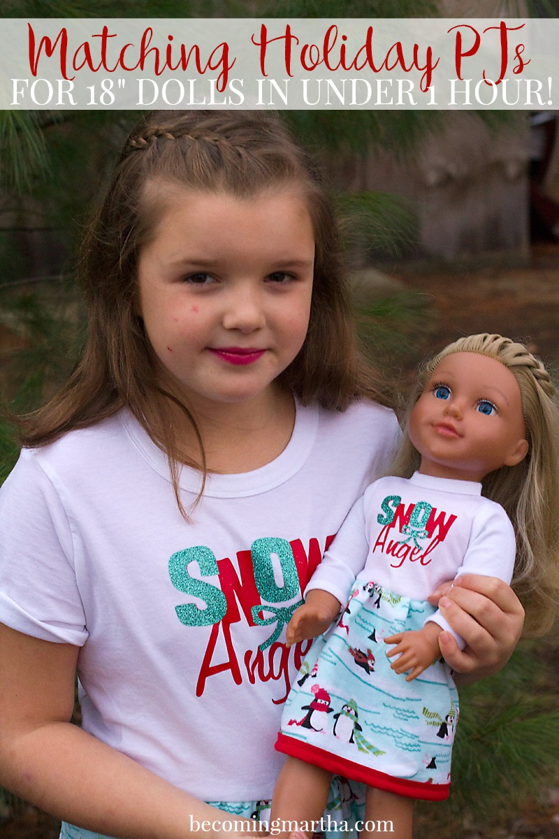 Matching Doll PJs Made Easy With the Cricut Maker