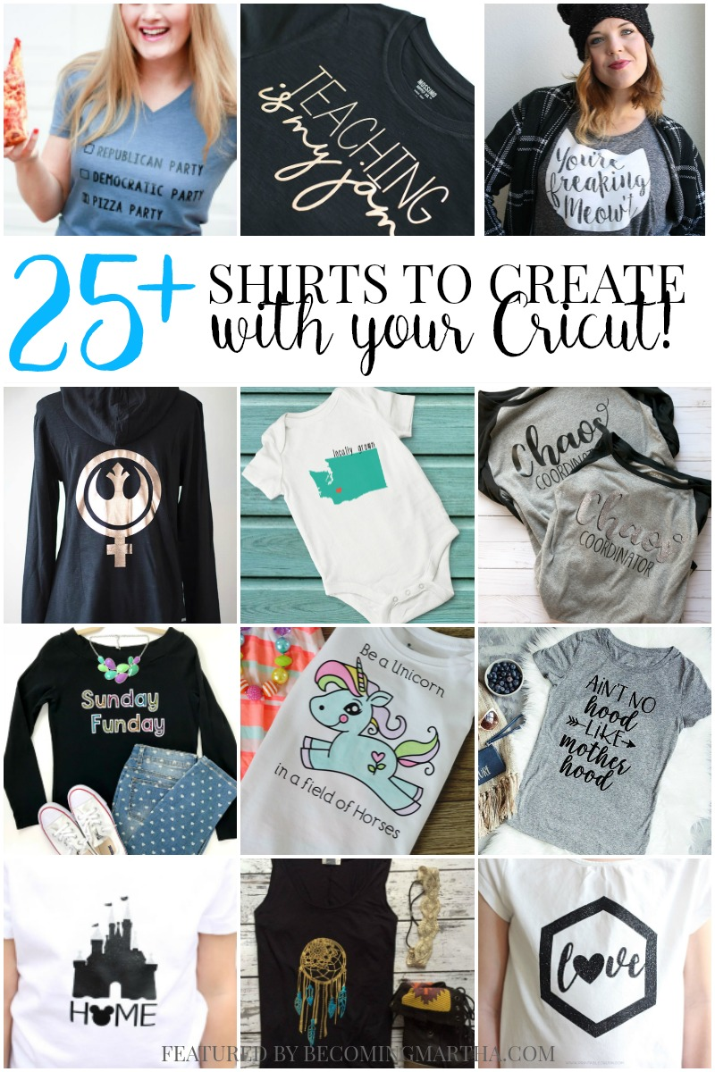 25+ Shirts to Make With Your Cricut