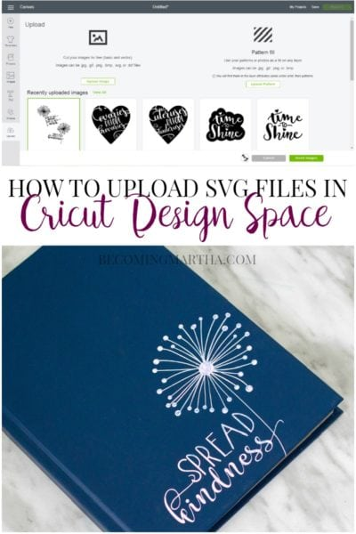 How to Upload SVG Files in Cricut Design Space + Fresh Cut SVG Bundle