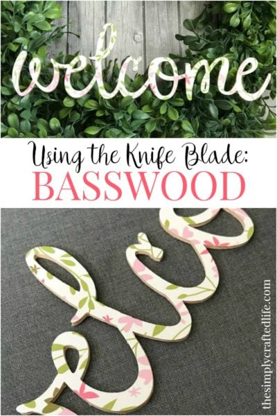 How to Cut Basswood with Cricut Knife Blade