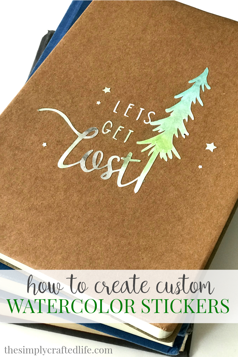 How to make stickers with cricut printable vinyl and watercolor paint using these cute