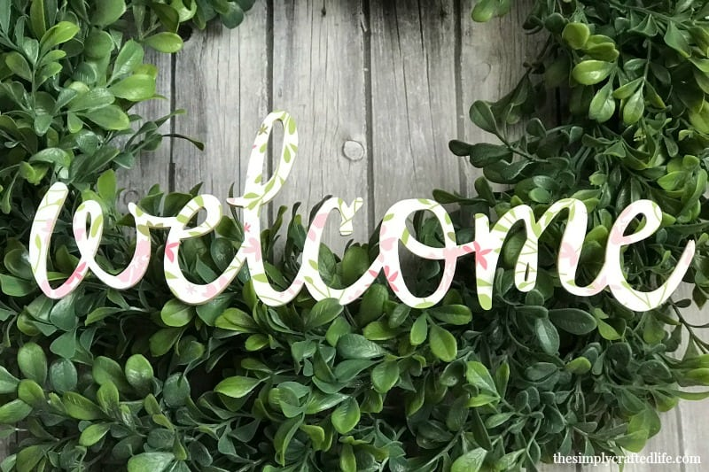 Learn how to cut basswood with cricut knife blade and create this colorful welcome sign using the new patterned iron on! This tutorial will walk you through the entire process and give you helpful tips to make sure your project is a success!
