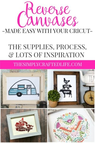 How to Make a Reverse Canvas with Cricut: A Guide to Making The Hottest Home Decor Trend Easily with your Cricut Explore or Cricut Maker.