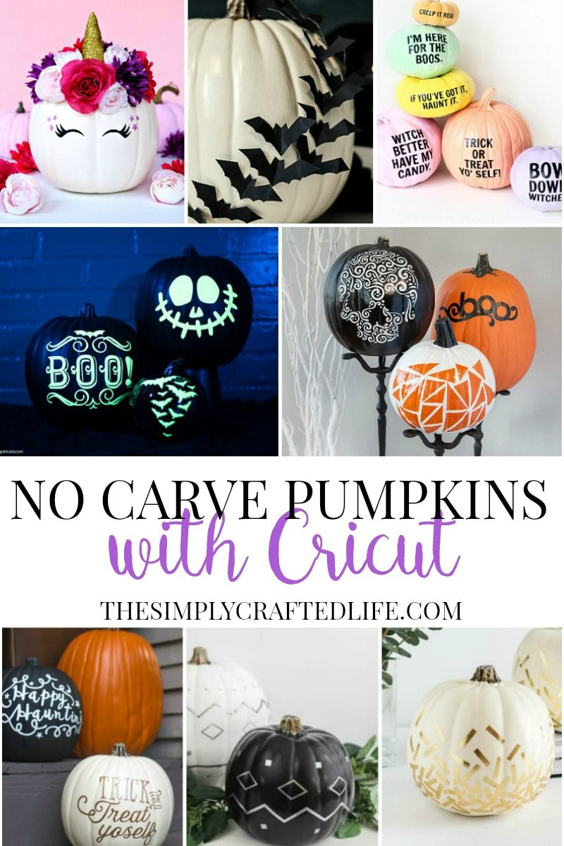 Ever wonder how to decorate pumpkins using Cricut? These DIY Cricut pumpkin decorating ideas will make your masterpieces the envy of the neighbourhood. #cricutmade #cricut #pumpkindecorating #nocarve