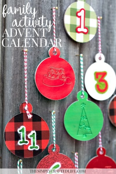 Family Activity Advent Calendar Made with Cricut Maker