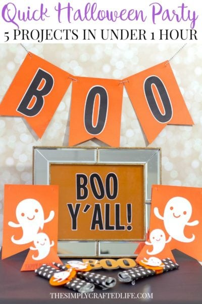 Easy Halloween Party Ideas Using Cricut – 5 Projects in Under 1 Hour!