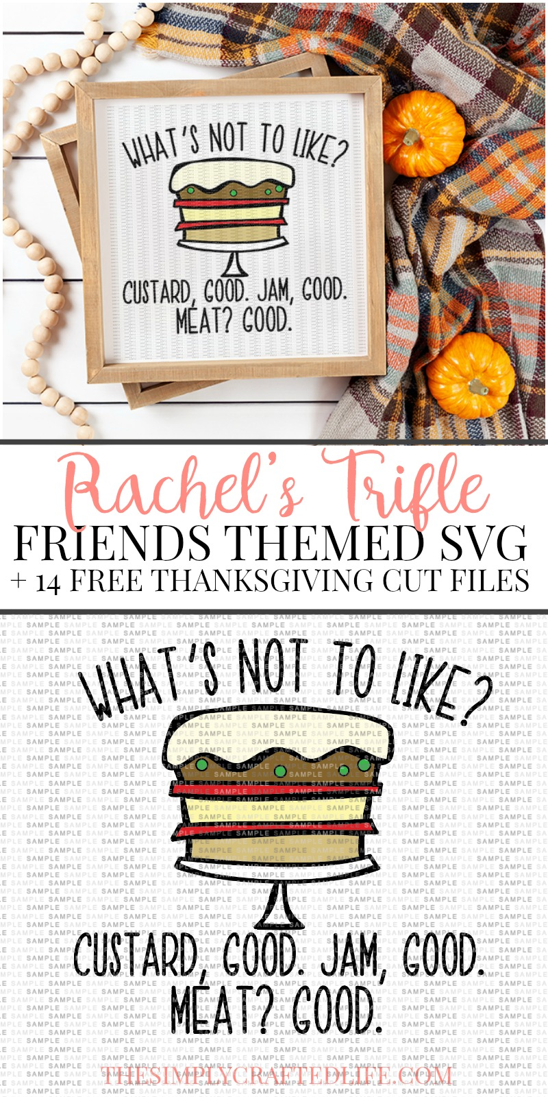 Remember the Friends episode where Rachel made trifle? You can grab Joey's reaction in an SVG!  And don't miss all 14 of these fabulous Free Thanksgiving SVG files!