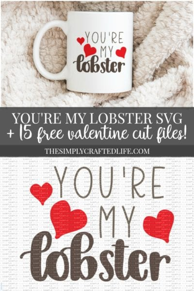 YOU'RE MY LOBSTER FREE VALENTINE'S DAY SVG
