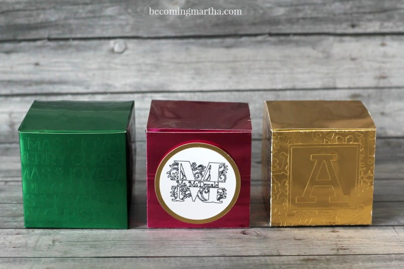 faux embossed gift boxes with cricut